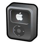 ipod video icona nera