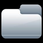 icona cartella chiusa d'argento