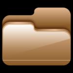 icona cartella aperta brown