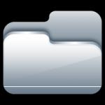 icona cartella aperta d'argento