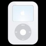 ipod video icona bianca