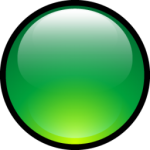 Aqua Green Ball Icona