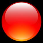 Aqua sfera Icona rossa
