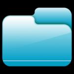 Cartella chiusa icona blu