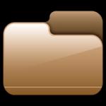 Cartella chiusa Brown Icona