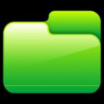 Cartella chiusa Green Icon