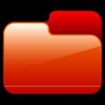 Cartella chiusa Icona rossa