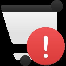 Shopping cart alert icon
