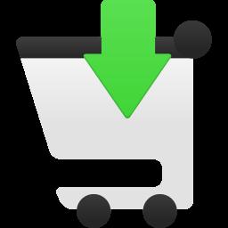 Shopping cart insert icon