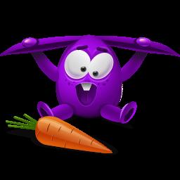 violet rabbit icon