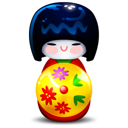 Kokeshi red icon