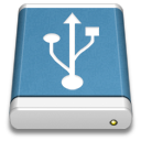 Blue External Drive USB icon