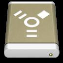 Lightbrown External Drive FireWire icon