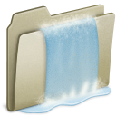 Lightbrown Waterfall icon