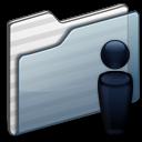 Users Folder graphite icon