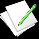 documents white edit icon