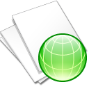 documents white web icon