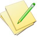 documents yellow edit icon