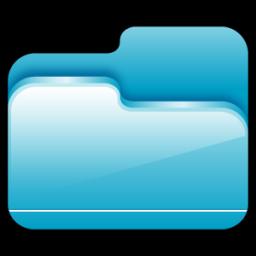 Folder Open Blue icon